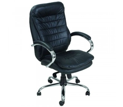 Кресло Валенсия HB кожа черная (CS-618E LEATHER BLACK)