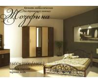 Кровать Жозефина на деревянных ножках Металл Дизайн
