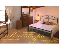 Кровать Кассандра на деревянных ножках Металл Дизайн