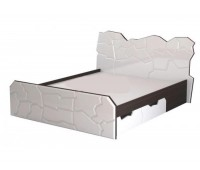 Кровать двуспальная Неолит Альфа-Мебель