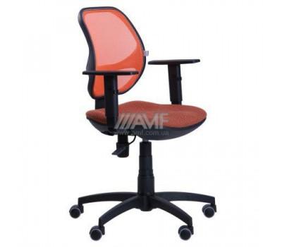 Кресло Квант/Action сиденье Квадро-70/спинка Сетка оранжевая AMF