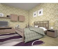 Кровать Виано 160х200 бук Тис