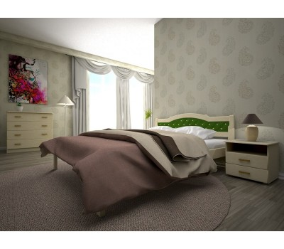 Кровать Юлия 2 бук 160х200 Тис