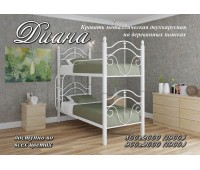 Кровать Диана 2 яруса Металл Дизайн