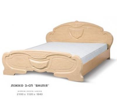 Кровать двухспальная Эмилия перламутр Світ Меблів